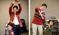 adults and children dancing