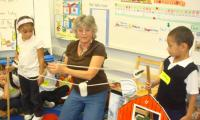 Jeanne Wall does engineering experience with children