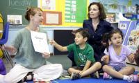 Laura Schandelmeier introduces children to the concept of a quintet